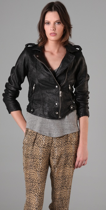 IRO Connie Leather Moto Jacket
