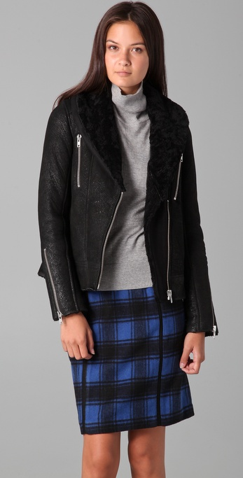 IRO Vilma Shearling Leather Jacket