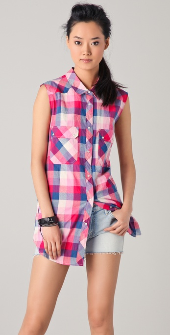 IRO Lake Plaid Top
