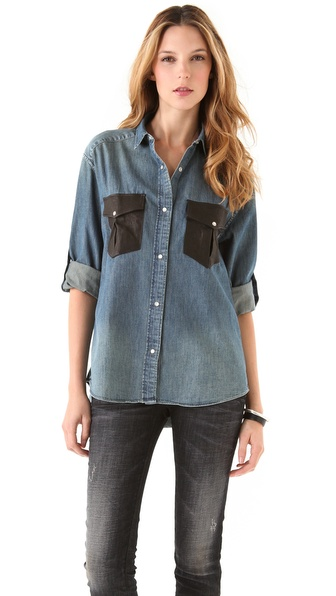IRO Fabiana Shirt with Leather Pockets