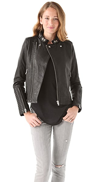 IRO Adama Leather Zip Jacket