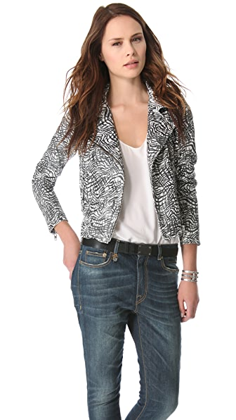 IRO Jeff Printed Leather Jacket