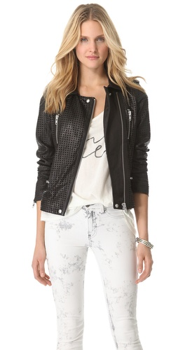 IRO Caelie Perforated Leather Jacket