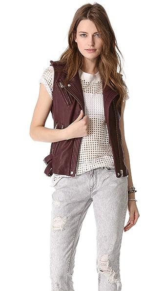 IRO Mert Leather Vest