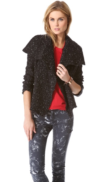 IRO Lierane Tweed Moto Jacket