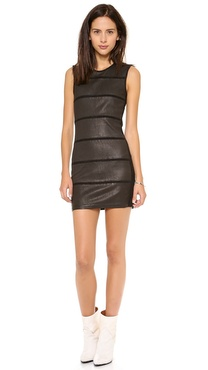 IRO Moessy Leather Dress