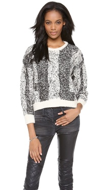 IRO Dorita Cabled Crop Sweater