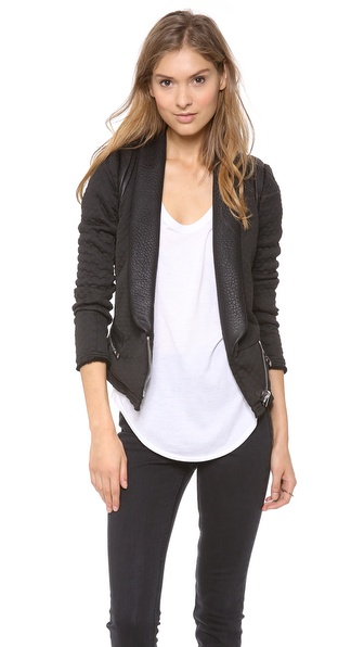 IRO Ashby Neoprene Leather Jacket