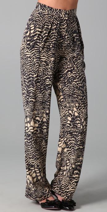 ISSA Pleated Print Pants