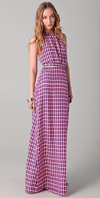 ISSA Print Halter Gown