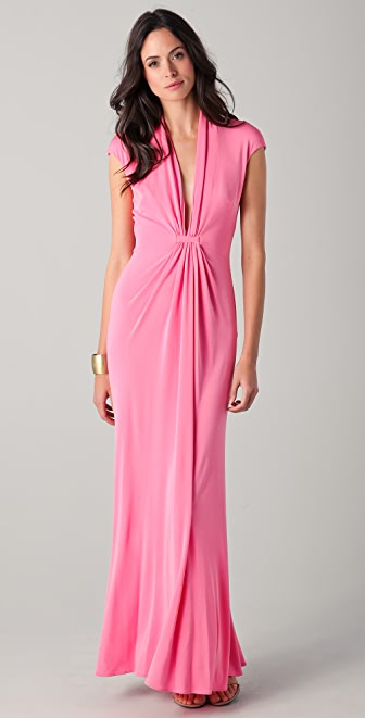 ISSA Cap Sleeve Gown