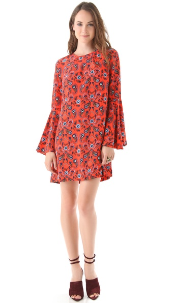 ISSA Flare Sleeve Printed Dress