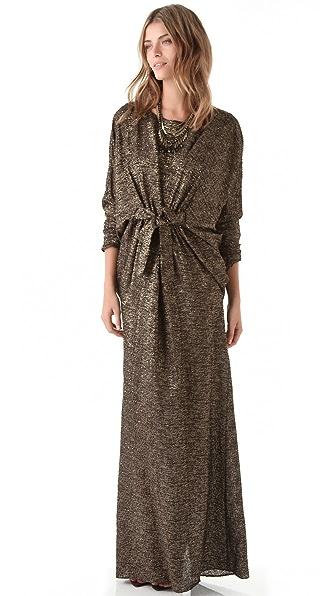 ISSA Metallic Dolman Gown