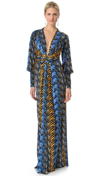 ISSA Long Kimono Dress