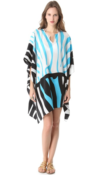 ISSA Zebra Print Border Cover Up