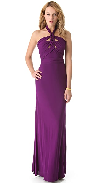 ISSA Cutout Front Gown