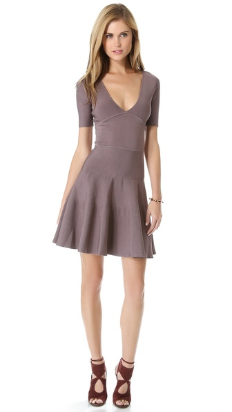 ISSA Rayon Rib Dress