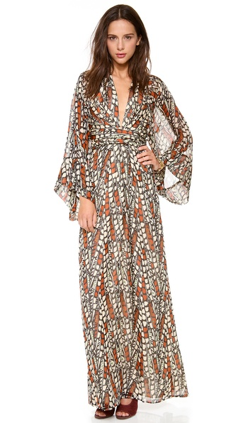 ISSA Long Kaftan Dress