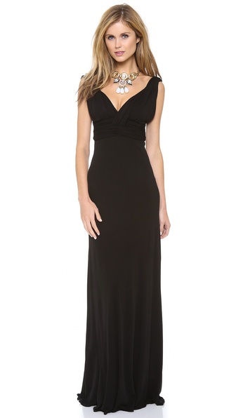 ISSA V Neck Sleeveless Gown