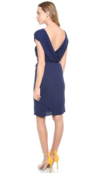 ISSA Open Back Short Sleeve Dress