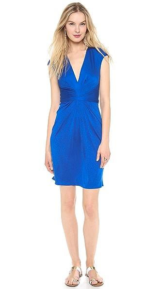 ISSA V Neck Cap Sleeve Dress