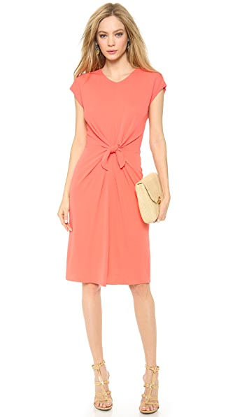 ISSA Cap Sleeve Knot Front Dress