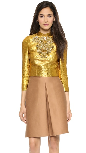 ISSA Pippa Embellished Top