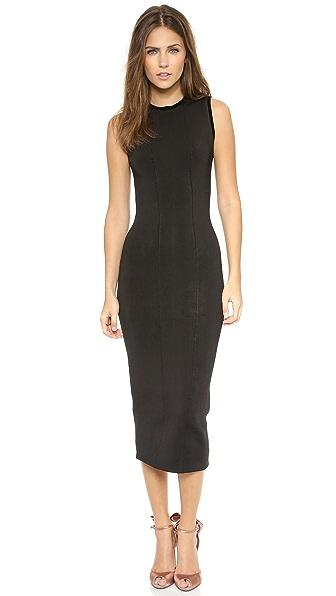 ISSA Gaby Velvet Trim Dress