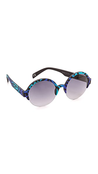 Italia Independent Round Zebra Sunglasses