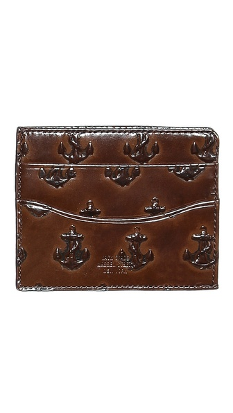 Jack Spade Embossed Anchor Bill Flap Wallet