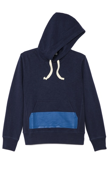 Jack Spade Dipped Pocket Sweatshirt with Hood