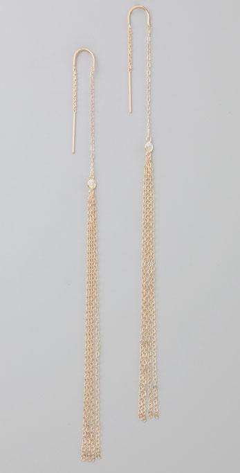 Jacquie Aiche Thread Shower Earrings