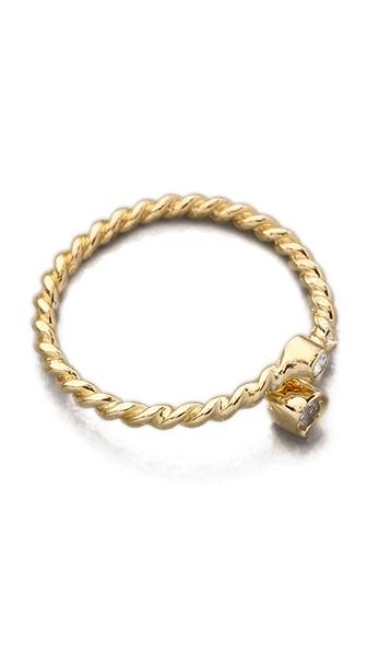 Jacquie Aiche JA Double Diamond Bezel Twisted  Wrap Waif Ring