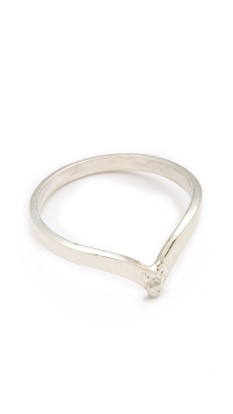 Jacquie Aiche Stackable V Ring