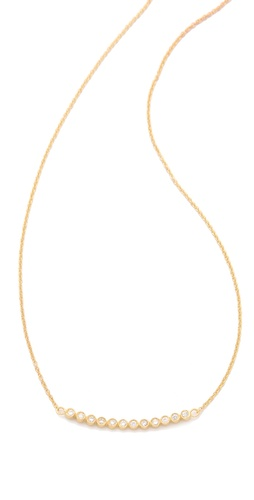 Jacquie Aiche 12 CZ Bezel Curved Necklace