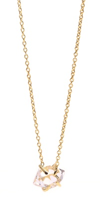 Jacquie Aiche Herkimer Crystal Solitaire Necklace