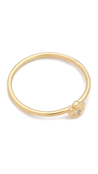 Jacquie Aiche Diamond Flower Ring
