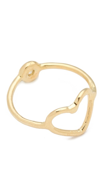 Jacquie Aiche Double Ring with Bezel