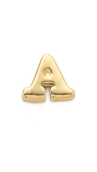 Jacquie Aiche Alphabet Single Earring