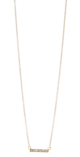 Shop Jacquie Aiche CZ Mini Bar Necklace and Jacquie Aiche online - Accessories,Womens,Jewelry,Necklace, online Store