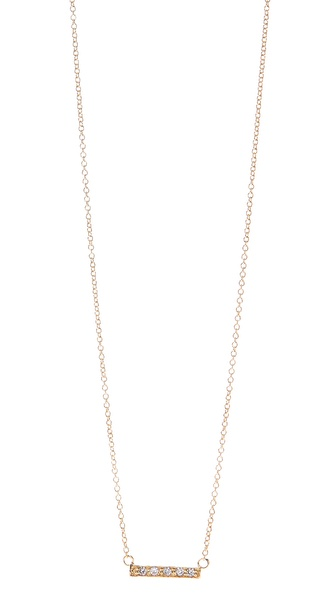 Jacquie Aiche CZ Mini Bar Necklace