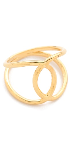 Shop Jacquie Aiche Overlap Circle Ring and Jacquie Aiche online - Accessories,Womens,Jewelry,Rings, online Store