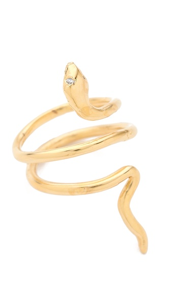 Jacquie Aiche Mini Snake Ring