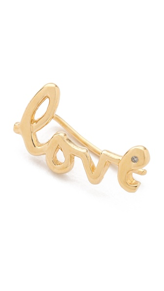Jacquie Aiche JA Love Ear Cuff with Diamond