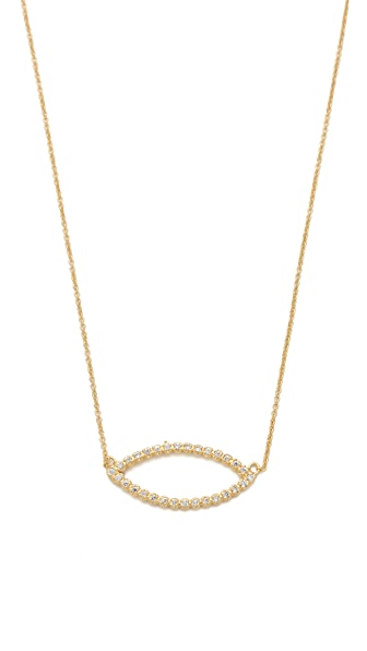 Jacquie Aiche JA Marquis Shape Necklace