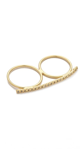 Jacquie Aiche JA Prong Bar Double Ring