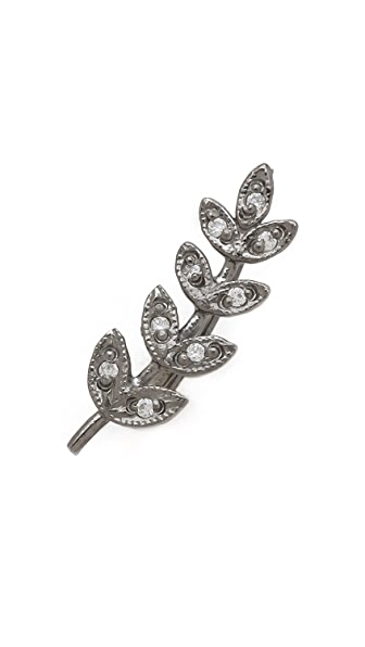 Jacquie Aiche JA Pave Medium Leaf Ear Cuff