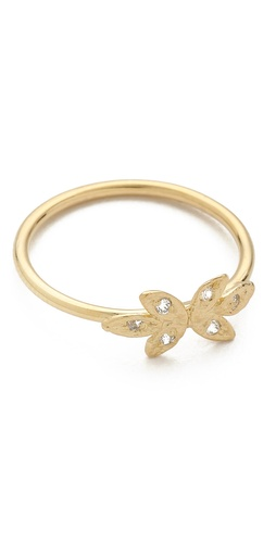 Jacquie Aiche Mirrored Leaf Waif Ring