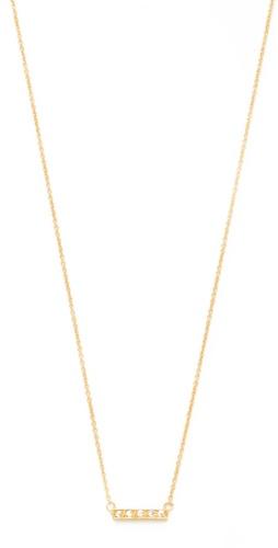 Jacquie Aiche Pave Mini Bar Necklace