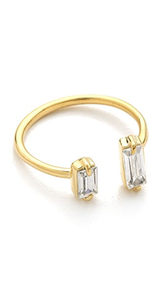Jacquie Aiche JA Double Baguette Open Ring